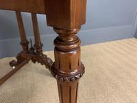 Large Victorian Burr Walnut Sutherland Table (12 of 16)