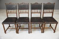 4 French Leather Dining Chairs (11 of 12)