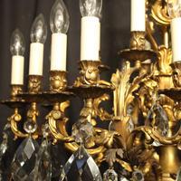 Italian Pair Bronze 20 Light Antique Chandeliers (3 of 10)
