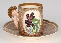 Zsolnay Pecs Hungarian Hand Painted Floral Cabinet Cup & Saucer c.1890 (12 of 16)