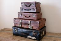 Large Vintage Brown Leather Suitcase (12 of 15)