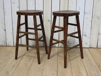 Set of Three Oak Bar Stools (3 of 8)