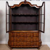 Dutch Bombe Bookcase Vitrine Display Cabinet on Chest Glazed (17 of 17)