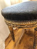 Antique French Carved Giltwood & Gesso Window Seat Bench (2 of 13)