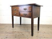 Early 19th Century Oak Lowboy Side Table (6 of 13)