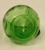Late Victorian Green Glass Decorated Small Jug (2 of 4)