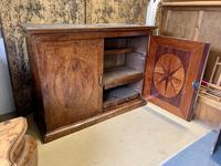 Large Burr Walnut Two Door Inlaid Cupboard (5 of 8)