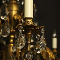 Italian Gilded & Crystal 12 Light Antique Chandelier (3 of 9)