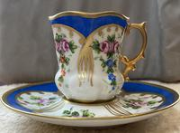 Limoges Hand Painted Cup and Saucer (4 of 4)