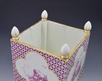 Large Victorian Minton Sevres Style Square Jardiniere (11 of 15)