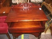 Carved Mahogany Lamp Table with Drawer (2 of 2)