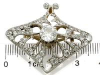 4.21ct Diamond & 18ct Yellow Gold Pendant / Brooch - Antique French c.1900 (12 of 16)