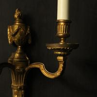 French Pair of Bronze Antique Wall Lights (4 of 10)