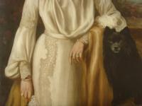 Oil Portrait Lady Dunbar Of Mochrum by John Horsburgh 1835-1924 Large Paintings (5 of 12)