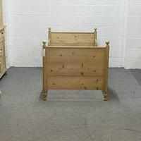 Old Pine Sleigh Bed (4 of 4)