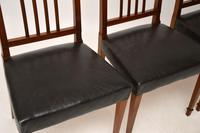 Set of 4 Antique Mahogany & Leather Dining Chairs (7 of 11)