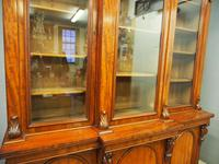 Victorian Mahogany Breakfront Cabinet Bookcase (17 of 19)