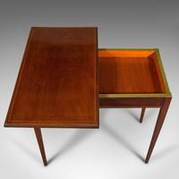 Antique Fold Over Card Table, English, Mahogany, Games, Occasional, Edwardian (10 of 12)