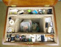 Beautiful Victorian Burr Walnut Sewing Table (8 of 8)