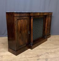 Beautiful Regency Rosewood 3 Door Breakfront Cabinet (7 of 11)