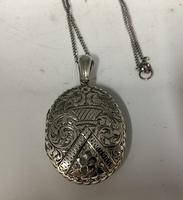 Antique Victorian Silver Pendant c.1870 (3 of 6)