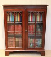 Mahogany Gothic Glazed Bookcase (4 of 11)