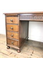 Early 20th Century Oak Kneehole Desk (6 of 14)