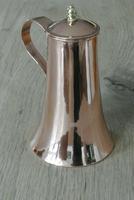 Fine Antique Copper Lidded Coffee Pot Acorn Finial Castellated Seam Georgian (6 of 8)