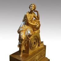 Large French Empire Gilt Clock by Deniere et Fils (8 of 11)