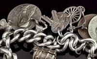 Vintage Sterling Silver Charm Bracelet, 1960s - Heavy (7 of 12)