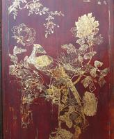 Impressive Pair of Chinese Chinoiserie Lacquered Panels (7 of 10)