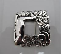 Georg Jensen/Arno Malinowski Silver Deer & Squirrel Brooch (5 of 7)