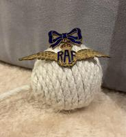 RAF Brooch Suspended from Enamel Bow (3 of 3)