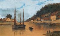 Wonderful Original 19th Century Antique Seascape Landscape Watercolour Painting (2 of 12)