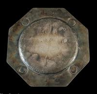 Antique Arts & Crafts Silver Plate on Copper Ruskin Tray c.1910 (8 of 9)