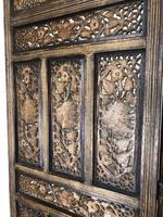 Vintage Indian Hardwood Three Panel Screen Room Divider (m-1806) (6 of 10)