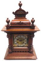 German Carved-Oak 8-Day Mantel Clock by Junghans (2 of 13)