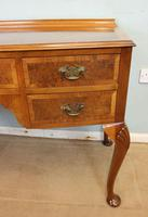 Burr Walnut Bow Front Writing Side Table (4 of 10)