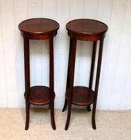 Pair of Edwardian Mahogany Jardinière Stands (6 of 10)