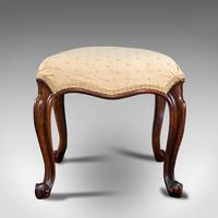 Antique Dressing Stool, English, Walnut, Upholstery, Boudoir Seat, Regency c.1820 (5 of 12)