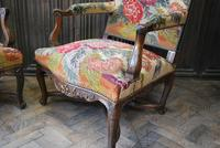 Pair of French Regence Carved Walnut Library Fauteuils (6 of 9)