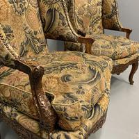 Pair of French Wing Armchairs (2 of 9)