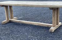 Large French Rustic Bleached Oak Farmhouse Dining Table (4 of 36)
