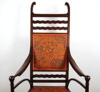 Edwardian Art Nouveau High Back Open Armchair (5 of 10)
