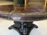 Stunning Antique French Walnut Carved Griffin Circular Dining Table c.1840 (9 of 12)