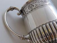 Rare Scottish Glasgow 1882 Solid Silver 1/2 Pint Tankard Christening Mug (7 of 13)