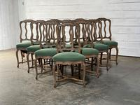 Set of 10 French Bleached Oak Farmhouse Dining Chairs (10 of 16)