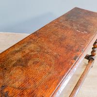 20th Century Long Oak Stool (4 of 5)