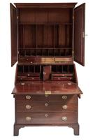 Mahogany Bureau Bookcase Georgian (5 of 15)