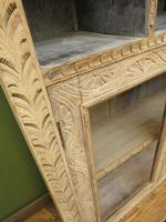 Antique Limed Oak Display Cabinet, Victorian rustic bohemian wall cabinet (7 of 16)